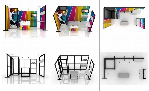 Exhibition Booth System Panel : Portable fab frame system standard exhibition booth