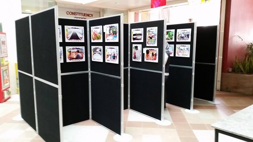 Exhibition Display System : Portable panel for event instant foldable