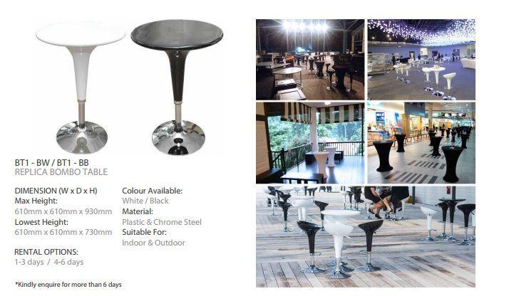 Rental Of Modern Bar Table For Roadshow Event Singapore