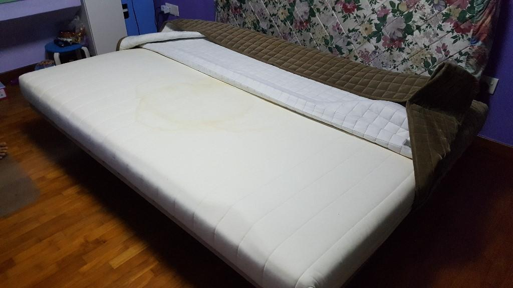 pre loved ikea beddinge lovas 3 seat sofa bed spring mattress singapore. Black Bedroom Furniture Sets. Home Design Ideas