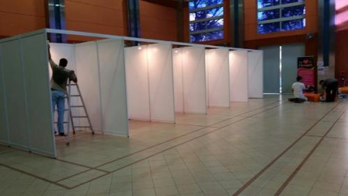 Portable Exhibition Frame : Portable fab frame system standard exhibition booth