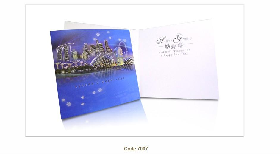 Christmas Cards for Sales /Corporate Christmas Greeting Cards, Singapore