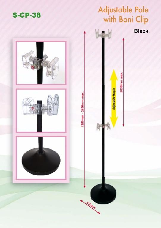 Boni Clip Pole For Poster Display Crab Stand Pop Clip