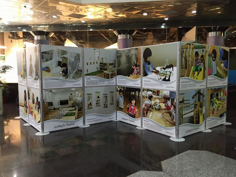 Portable Exhibition Display Boards : Portable panel for event instant foldable panel partition singapore