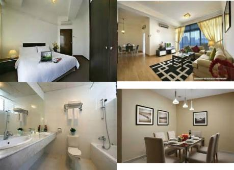 weekly 3 bedrooms serviced apartment orchard road scotts road